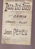 Partition Ancienne - Chansons De Preheu - Zaza Zizi Zozo / - Muziek & Instrumenten
