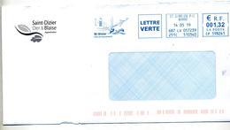 Lettre Flamme Ema Saint Gibrien Ville De Saint Dizier Theme Avion - Poststempel (Briefe)