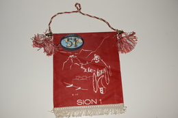 Fanion Fifty-One 51 International Sion D117 - 1 Tissus Imprimé Suisse Swiss - Organizations