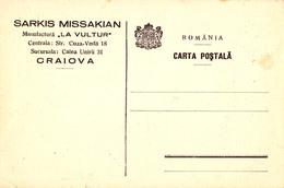 ROMANIA & ARMENIA / ARMENIE : PUBLICITÉ De COMMERCE / MANUFACTURE : SARKIS MISSAKIAN / CRAIOVA ~ 1935 - '939 (ac559) - Arménie