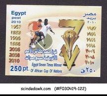 EGYPT - 2010 AFRICAN CUP OF NATIONS / FOOTBALL / SOCCER - SOUVENIR SHEET MNH - Egypt