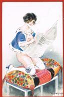 L.PELTIER- Illustrateur Signé-Nu Romantica- Le Lever De Lilli - Série 28 N° 138- - écrite 1919- Scans Recto Verso- - Illustrators & Photographers