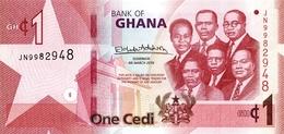 Ghana P.new  1 Cedi 2019 Unc - Ghana