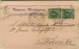 TERENTOLA ( AREZZO ) IMPRESA MONTAGNONI - CARTOLINA PUBBLICITARIA AUTOGRAFA - 1915 (3421) - Arezzo