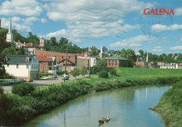 GALENA-PANORAMIC VIEW LOOKING NORTH GALENA-ILLINOIS VIAGGIATA 1990   FG - Stati Uniti
