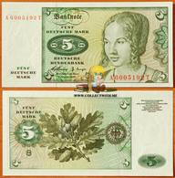 Germany (FRG) 5 Deutsche Mark 1960 UNC Р-18 - [ 7] 1949-… : RFA - Rép. Féd. D'Allemagne