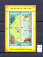 SWAZILAND - 281/4 = Block 2  Gebietskarten  Kpl.Ausg. Postfrisch - Swaziland (1968-...)