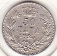 Yougoslavie 50 Para 1925 Alexander I . Nickel Bronze.  KM# 4 - Joegoslavië