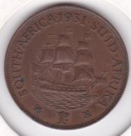 Afrique Du Sud 1 Penny 1931. George V. Bronze. KM# 14.3 - Afrique Du Sud
