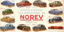 "Rare Buvard Voitures 1/43° ""micro NOREV"" Circa : 1955 - Transports"