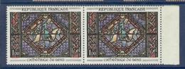 N° 1427 VITRAIL VARIETE BARRE DU 1 ABSENTE EN PAIRE *µ - Variétés: 1960-69 Neufs