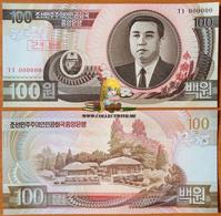 North Korea DPRK 100 Won 1992 UNC Specimen АЭ-43s2 - Korea (Nord-)