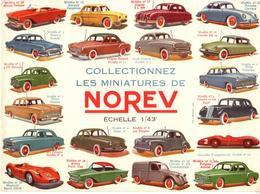 "Superbe Buvard Voitures 1/43° ""micro NOREV"" Circa : 1957 - Transport"