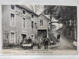Port Sur Saone. Café Et Hôtel De La Gare. Animée - Francia