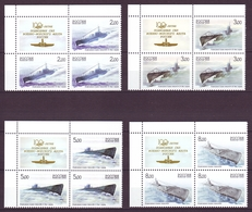 RUSSIA 2005. SUBMARINES. Blocks Of 4 X Mi-Nr. 1236-39 Zf. Left Upper Corners With Coupons. MNH (**) - Submarines