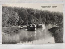 Port Sur Saone. Canal. Péniche - France