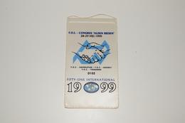 Fanion Fifty-One 51 International Congrès Alden Biesen 1999 Hasseltum Hasselt Tongeren D102 Tissus Imprimé - Organizations