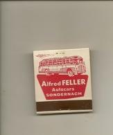 Pochette Allumettes LASTAR De 1956 Neuve Et Pleine:Autocars Alfred FELLER à Sondernach - Boites D'allumettes