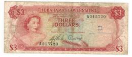 Bahamas 3 Dollars , L.1965. VG/F. - Bahamas