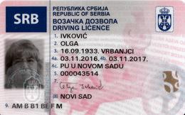 DRIVER LICENCE,PERMIS DE CONDUIRE-SERBIA 2016 - Documenti Storici