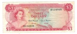 Bahamas 3 Dollars , L.1968. VF+. - Bahamas