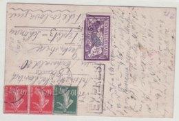CPA France 1926 Merson 3f + Semeuse Express Pour Teplitz Schonau Tchecoslovaquie CPA Paris Montmartre - Storia Postale