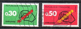 FRANCE. N°1719-20 Oblitérés De 1972. Code Postal. - Zipcode