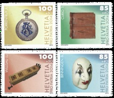 2014 Switzerland - Pro Patria - Villages Museum II - MNH** MiNr. 2345 - 2348 Mask, Watch, Book, Instruments, - Suiza
