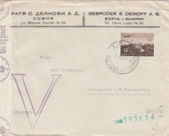Bulgray Brief Zensur 1941 - Cartas