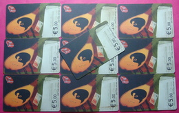 Series 008, Kosovo Lot Of 10 Chip Phone CARD 5 EURO Used Operator VALA900 (Alcatel) *Turkish National Instr* - Kosovo