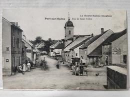Port Sur Saone. Rue De Saint-Valère. Animée. Hôtel Du Commerce - Francia