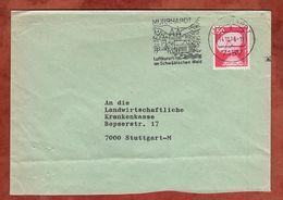 Brief, Erdefunkstelle, Murrhardt Nach Stuttgart 1976 (77372) - BRD