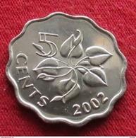 Swaziland 5 Cents 2002 Swasiland Swazilandia Suazilandia UNCºº - Swaziland