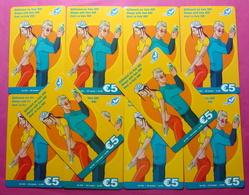 Series 7, Kosovo Lot Of 10 Prepaid Phone CARD 5 EURO Used Operator VALA900 (Alcatel) *Girl & Boy Mobiling* - Kosovo