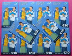 Series 61, Kosovo Lot Of 10 Prepaid Phone CARD 10 Euro Used Operator VALA900 (Alcatel) *Family Mobiling* - Kosovo
