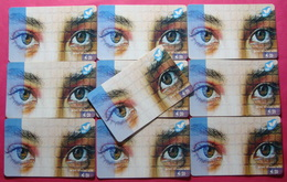 Series 18,19, Kosovo Lot Of 10 Prepaid Phone CARD 20 Euro Used Operator VALA900 (Alcatel) *Eyes* - Kosovo