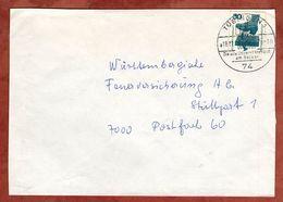 Brief, Unfallverhuetung, Tuebingen Nach Stuttgart 1975 (77378) - BRD