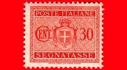 Nuovo - MNH - ITALIA - 1945 - Stemma Senza Fasci, Filigrana Ruota - Segnatasse - 30 Cent. - 5. 1944-46 Lieutenance & Humbert II:
