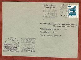 Brief, Unfallverhuetung, Schwaebisch Gmuend Nach Stuttgart 1977 (77379) - BRD