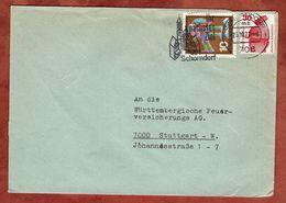 Brief, Bergwacht U.a., Schorndorf Nach Stuttgart 1972 (77380) - BRD