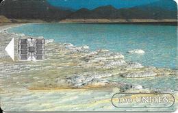 CARTE-PUCE-OPT-DJIBOUTI-1 00U--SC7-SCHLUM-LAC SALE-V° LOGO  BLEU DJIBOUTI- N°Série Sur Rectangle Bleu-TBE-RARE - Dschibuti