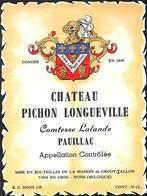 Etiquette Château Pichon Longueville Pauillac - Etiquettes