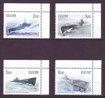 RUSSIA 2005. SUBMARINES. Mi-Nr. 1236-39. MNH (**) - Submarines