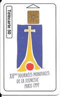 CARTE-PUBLIC-MONACO-MF 45a-GEMB-06/97-XIIe JMJ-Série 9005-UTILISE-TBE - Monaco