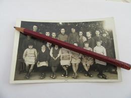 53 SAINT CYR LE GRAVELAIS  Carte Photo D'école 1935 Filles Institutrice Rare Mayenne - Autres Communes