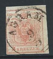 Timbre Poste AUTRICHE N°: 3 - 1850-1918 Imperium