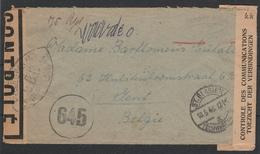 Brief Met Controle Etiket Van St-Blasien Naar Gent 10/5/1946  (2scans) - Bélgica