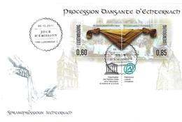 FDC -  JOUR D'ÉMISSION  - PROCESSION DANSANTE D'ECHTERNACH  -  06.12.2011 - FDC