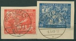SBZ Allgemeine Ausgabe 1949 Leipziger Messe 230/31 Sonderstempel Briefstücke - Soviet Zone