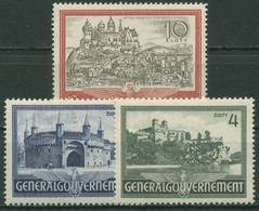 Generalgouvernement 1941 Bauwerke 63/65 Mit Falz - Besetzungen 1938-45